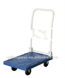 Heavy duty plastic folding flatform hand trolley