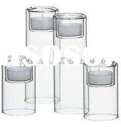 High Clear Glass Tea light Candle Holders