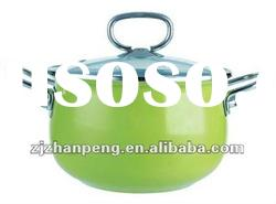 High Quality Enamel Hot Pot With Stainless Steel Handle
