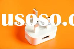 High Quality and best price& 500mA cell phone adapter &USB charger for UK