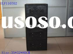 Home Furniture PU Leather Cabinet with 4 drawers