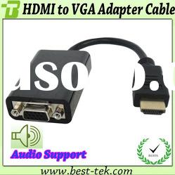 Hot Seller Black HDMI to VGA Female Cable Price from 8.9-12.9USD