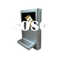 LCD Wall-mount touchscreen kiosk with SAW touchscreen and light-weight design
