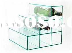LY-2188 Acrylic light green three-tier table top bottle/beer display holder/shelf/rack