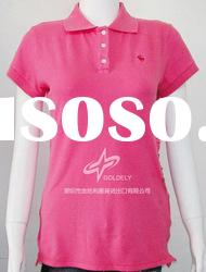 Ladies solid color polo,women's Polo t shirt, Short sleeve polo shirt