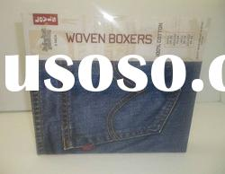 Large clear plastic box for jeans with lid