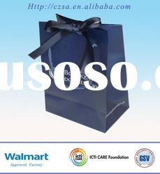 Luxury Gift paper Bag With Ribbon Handles