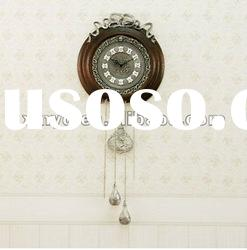 Mechanical wooden wall clock ,with Taiwan Quartz movement