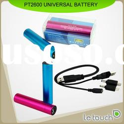 Mini Aluminum USB Power Bank 2600mAh with multi colors for option