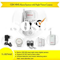 New Famous Brand! personal security equipment burglar alarm system with camera and alarm power guard