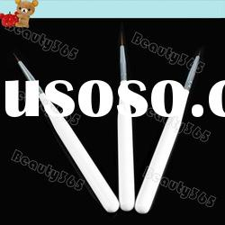New Fashion 3PCS Nail Art Brush Pen Design Acrylic Tips Drawing Painting set