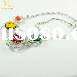 New fashion colorful jewelry alloy necklace charm