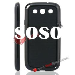Newly Arrival Mix Color TPU Phone Case for Samsung Galaxy S3 i9300(Black)