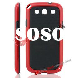 Newly Arrival Mix Color TPU Phone Cover for Samsung Galaxy S3 i9300(Black&Red)