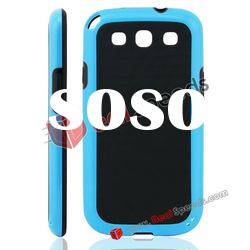 Newly Arrival Mix Color TPU Skin Cover for Samsung Galaxy S3 i9300(Black&Blue)