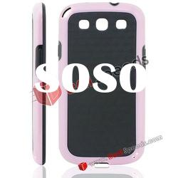 Newly Arrival Mix Color for Samsung Galaxy S3 i9300 TPU Case (Black&Pink)