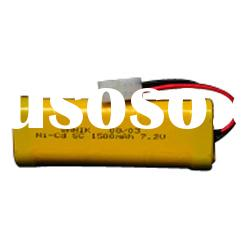 NiCd SC 1500mAh 7.2V Rechargeable Battery