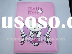Nice Looking ! Cartoon Hello Kitty PU Leather Case for The New Ipad