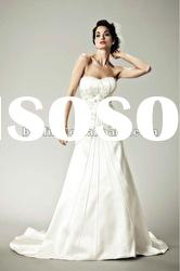 No.bijou ribbons emboridery satin bridal dress flower skirt wedding dress 2012