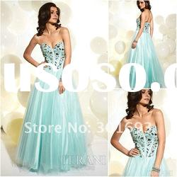 PD006 Sleetheart light green modest prom dresses 2012