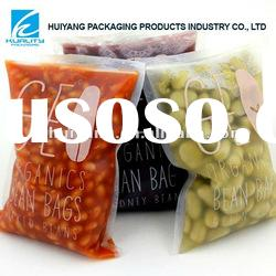 Plastic bean bags food clear packaging with vivid printing