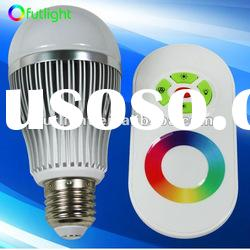 Popular 3W E26/E27/B22 Dimmable RGB LED Bulb with remote control