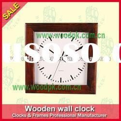 Popular produce quartz wood wall clock