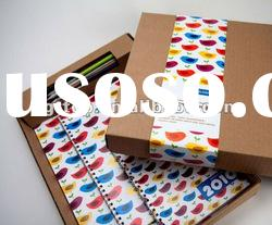 Recycled Kraft Paper Stationery box for notebooks,pencil cases,calendars