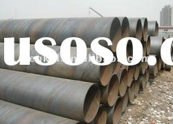 SSAW Welded carbon BS1387/ASTMA53 spiral steel tubes for watering