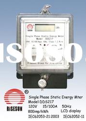 Single Phase Two Wire Energy Meter with LCD