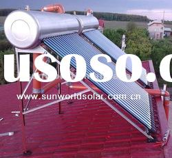 Stainless steel vacuum tube solar water heater system