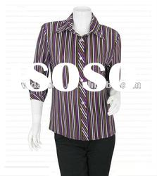 T/C 65/35 yarn-dyed shirt for woman