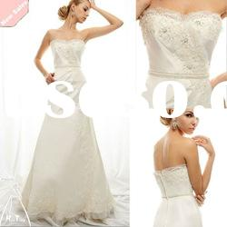 The gorgeous fit and flare gown open back lace wedding dress