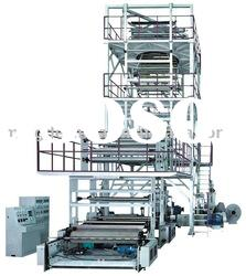 Three to five layers co-extrusion film blowing machine set (IBC Film tube inner cooling system)