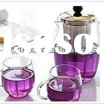 Transparent Glass Teapot with stainless steel filter
