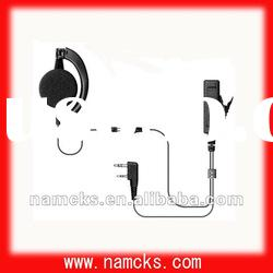 Transparent acoustic tube headphone for two way radio Kendood