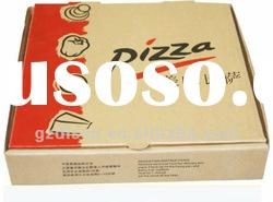 White paper pizza box for food packaging