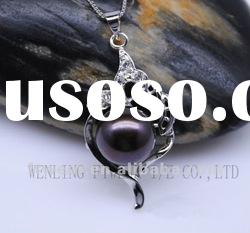 Wholesale sterling silver charm design jewelry,frshwater pearl pendants