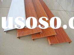 Wood color aluminum linear ceiling panel
