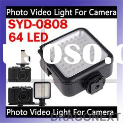 YongNuo SYD-0808 64 LED Photo Video Light For DSLR Camera