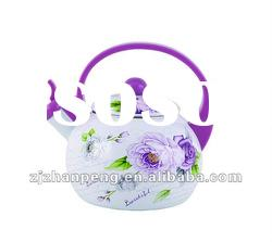 ZP7 unique decorative antique enamel whistling tea kettle