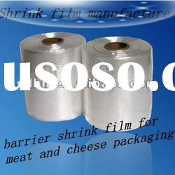barrier shrink film for meat and cheese packaging