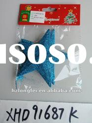 beautiful hanging glitter star new year decoration