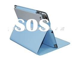 beautiful pu leather case for ipad2/new ipad stand
