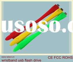 best selling silicone wristband usb flash drive with your custom logo