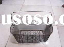 bicycle accessories /hot selling big steel bicycle basket with handle for sale
