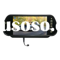 bluetooth/mp5/touch key 7inch TFT LCD car rear view mirror monitor