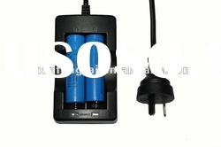 car charger led flashlight for 18650 AU plug dual charger with line