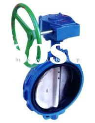 cast iron or ductile iron gear box soft-sealed wafer midline butterfly valve