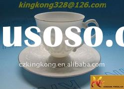 ceramic china tea cup and saucer set for 2012 New style
